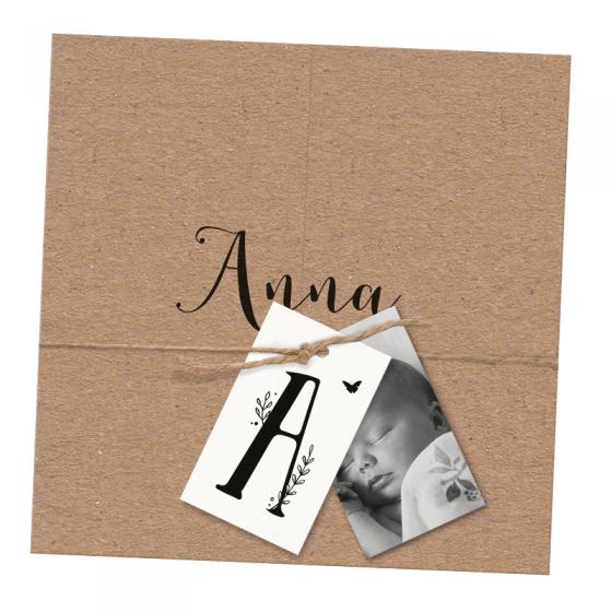 Moderne Geburtskarten mit Foto im trendigen Design