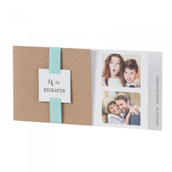 Hochzeitskarte mit Foto