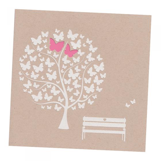"""Hochzeitskarte """"Schmetterlinge"""" im romantischen Desgin"""