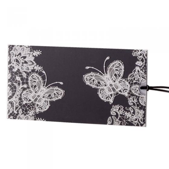 Hochzeitskarten Schwarz / Weiß in moderner Gestaltung