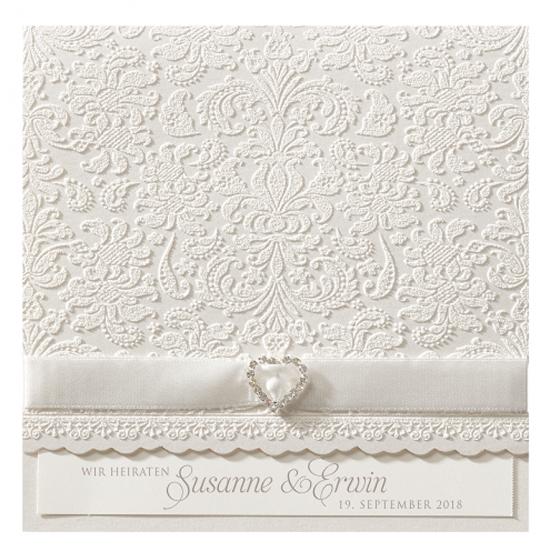 """Hochzeitskarten """"edle Spitze"""" online bestellen"""