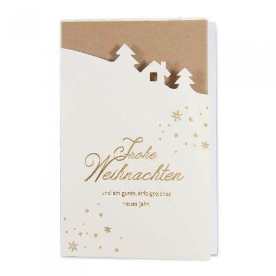 Klassische Weihnachtskarten mit raffinierter Stanzung