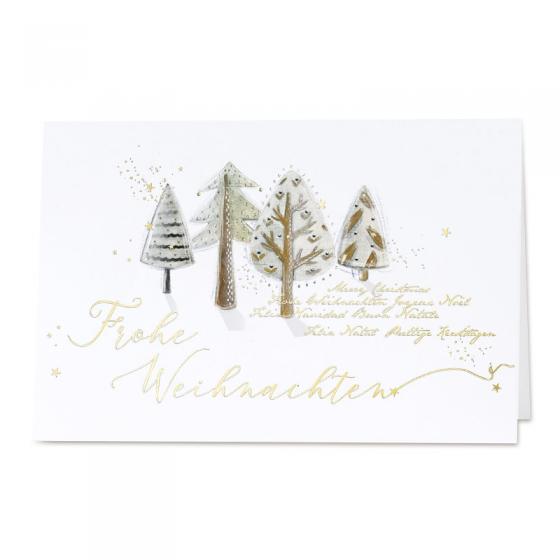 Klassische Weihnachtskarten mit edler Goldfolienprägung