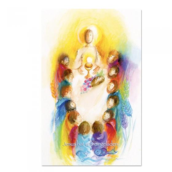 """Kommunionbildchen / Heiligenbildchen """"Jesus unteruns"""" im modernen Design"""