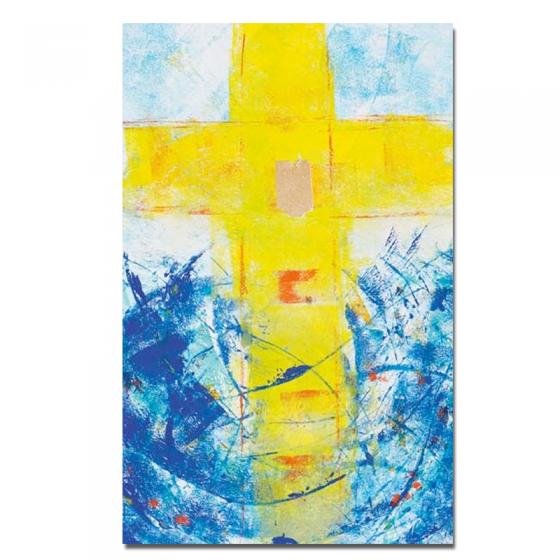 """Kommunionbildchen """"Quelle des Lebens"""" aus feinem Kunstdruckpapier in künstlerischem Design"""