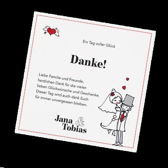 """Lustige Dankkarten """"Brautpaar"""" online bestellen"""