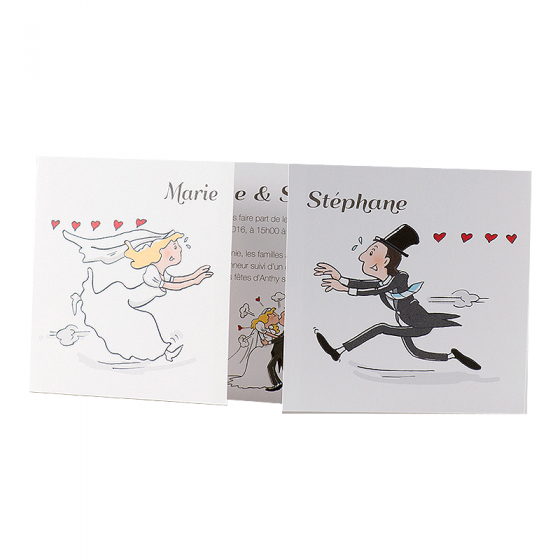 Lustige Einladungskarten mit fröhlichem Comicmotiv