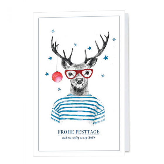 """Lustige Weihnachtskarten """"Unicef"""" im modernen Design"""
