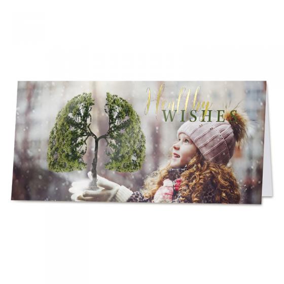 """Moderne Neujahrskarten """"Umwelt"""" mit edler Goldfolienprägung als Spendenkarten"""
