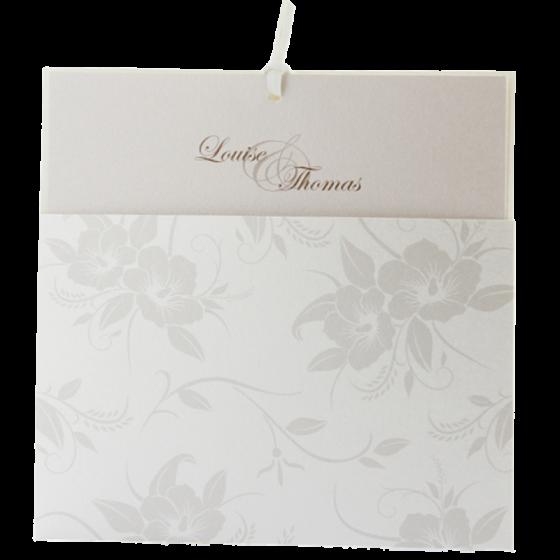 """Romantische Hochzeitskarten """"Blumen"""""""
