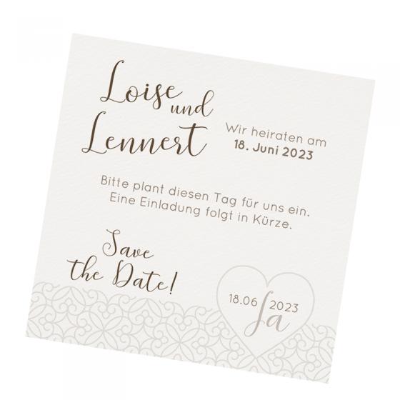 """Save the Date Karten """"Herz"""" im klassischen Deisign"""