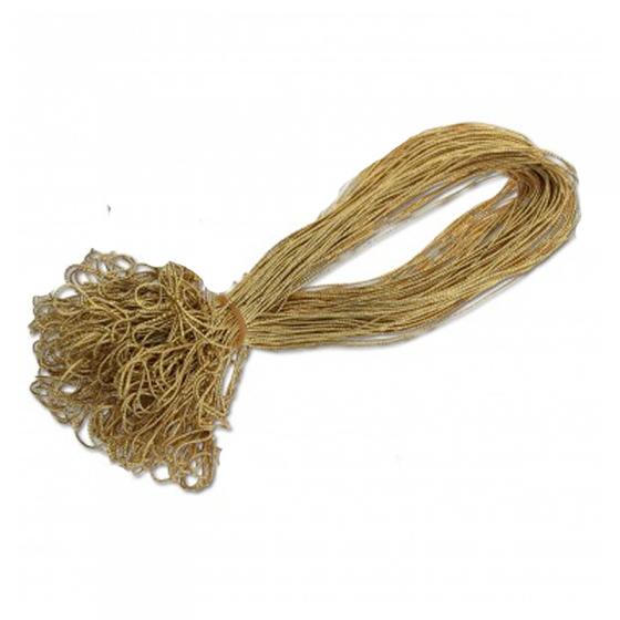 """Schmuckgummiband """"Gold"""" zum Fixieren des Einlegeblattes in der Karte und als besonderer Blickfang"""