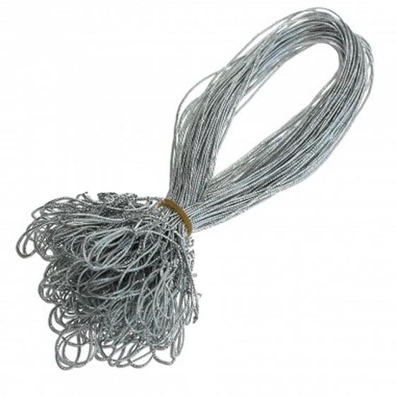 """Schmuckgummiband """"Silber"""" mit Schlaufe zum Fixieren von Einlegeblättern"""