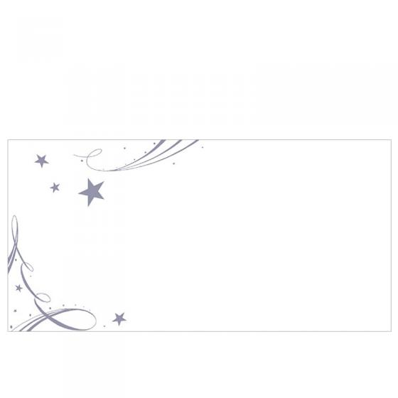 Weihnachtliche Schmuckkuvert DIN Lang mit silbernem Weihnachtsmotiv ohne Fenster