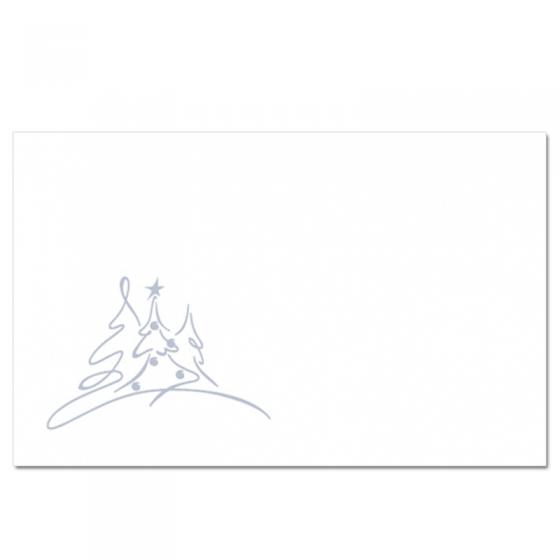 """Schmuckkuvert """"Drei Bäumchen - Silber"""" für die Weihnachtspost, selbstklebend"""