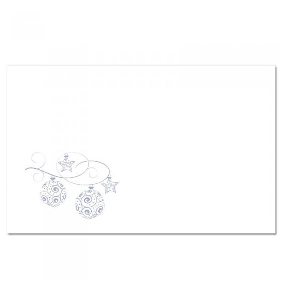 """Festliches Schmuckkuvert """"silberne Weihnachtskugeln"""" (20 x 12,5 cm)"""