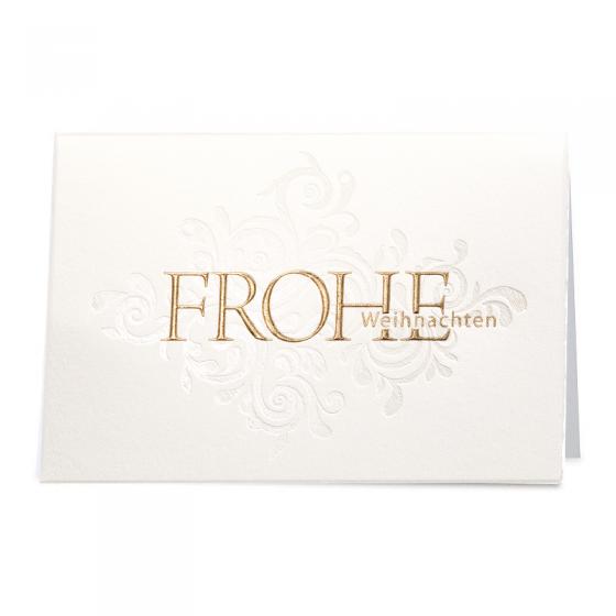 Schöne Weihnachtskarten mit edler Gold- & Perlmuttfolienprägung