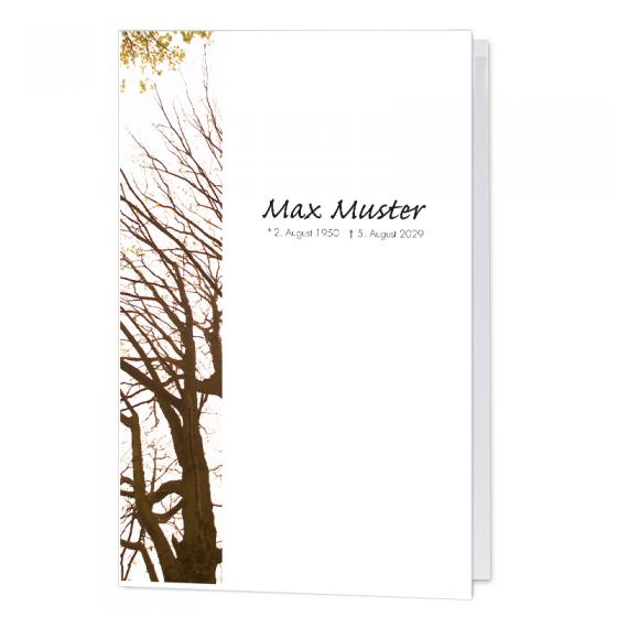 """Stimmungsvolle Trauerkarten """"Bäume"""" im modernen Design"""