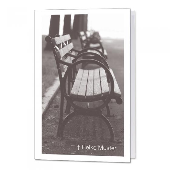 """Trauerkarten """"Parkbank"""" mit stimmungsvollem Motiv"""