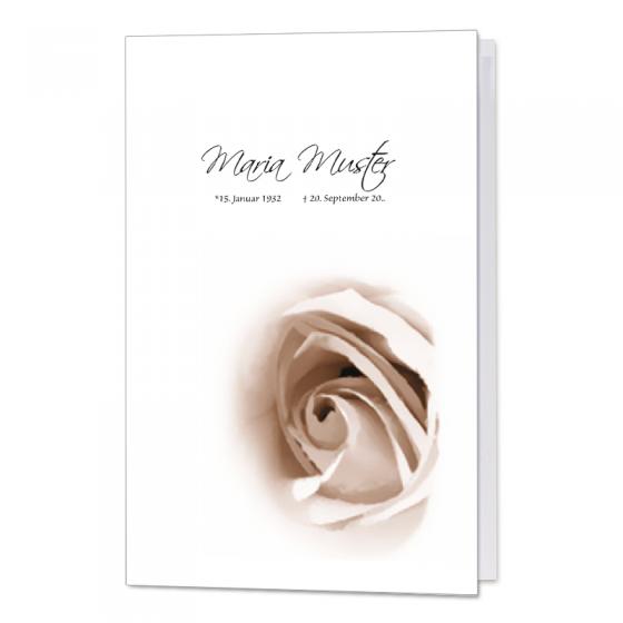"Trauerkarte ""Rosenblüte"" mit stilvollem Rosenmotiv"