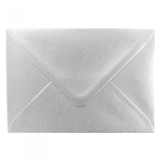 Silberne Kuverts & Briefumschläge mit Nassklebung (17,5 x 12 cm)