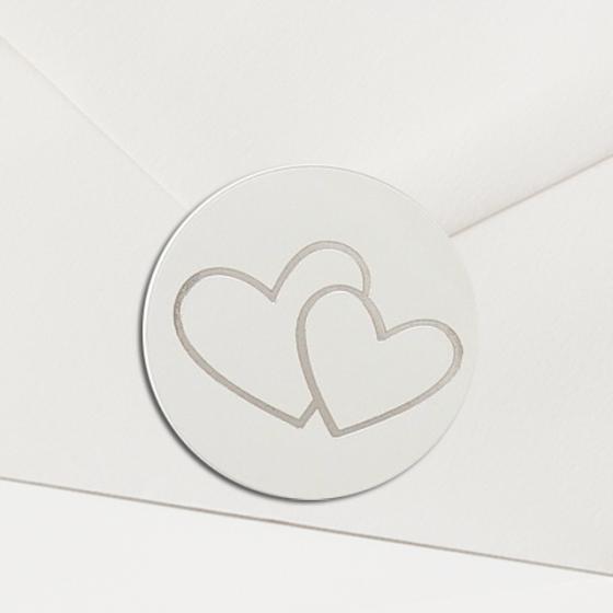 Verschlusssiegel silberne Herzen online bestellen