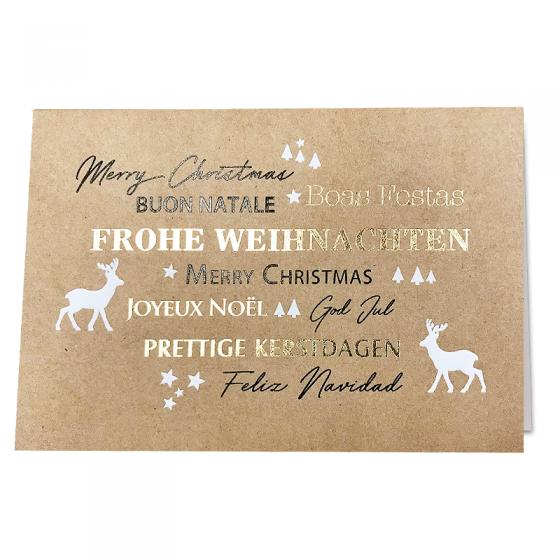 """Moderne Weihnachtskarten """"International"""" mit edler Folienprägung"""