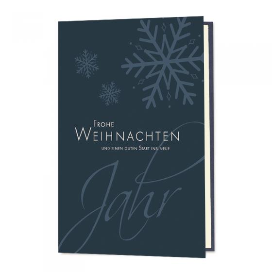 """Weihnachtswünsche """"Geschäftlich"""" mit edler Silberfolienprägung"""
